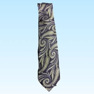 Men's wear house tie blue green